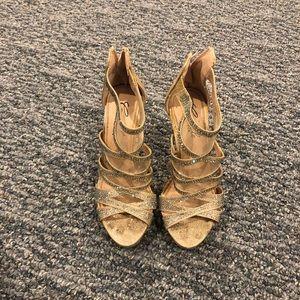 Camille La Vie Gold Glitter High Heels
